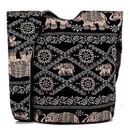 Wholesale Tribal Phone - 2017 New Women Ethnic Tribal Bags Cotton Canvas Hippie Hobo Sling Cross body Bag Messenger Purse