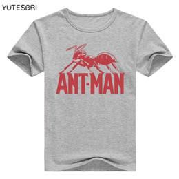 Nouveau fourmi homme t-shirt film mode TV ant-homme été à manches courtes chemise fitness O-cou anime tee pour hommes antman t shirt hommes ? partir de fabricateur