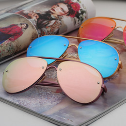 Wholesale Mirror Coating Glasses - Brand Pilot Sunglasses Kids UV400 Coating Sun Glasses Camouflage Frame Goggle Baby Boys Girls Sunglass oculos With Box