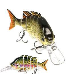 2019 pesca iscas swimbaits Iscas de pesca Slowing Afundando Swimbaits Multi Articulado Isca Crankbaits 6 Segmento Chocalho Armadilhas com Agudos Ganchos 4
