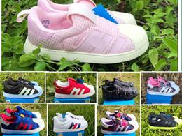 2018 chaussures de chaussures Gros smith Superstar 360 I doux semelle Sneakers enfants Mode bébé Casual Chaussures Zapatillas Deportivas Garçons filles enfants cadeau 24-35 promotion chaussures de chaussures