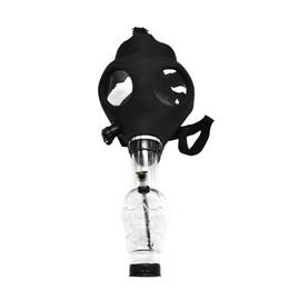 2020 maschere antigas fumo tubi Maschera di silicone tubo Bong bong creativo Maschera acrilico tubo di fumo Maschera antigas acrilico Tubi trasporto libero maschere antigas fumo tubi economici