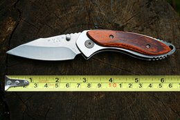 Wholesale Buck Pocket - Camping Knives BUCK 271 Pocket Knives 12C27M Steel Pocket Knife Rosewood Handle Outdoor Survival Tactical Knives D728L