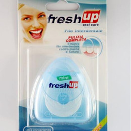 Hot Fio Dental 50 m Fresh Up Higiene Oral Micro Plástico Wax Fino Tartar Apertado Dentes Pimenta Menta Dura Atacado de
