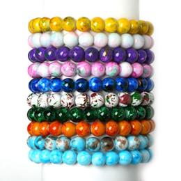 Wholesale Stretch Glass Bracelets - whole saleHigh Quality 2016 Handmade Natural Stone Stretch Elastic Glass Beads Charm Bracelets Women Fashion Jewelry Gifts Free Shipping