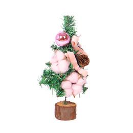 2019 Weiße Weihnachten.Rabatt Weiße Weihnachtsbaum Rosa Dekorationen 2019 Weiße