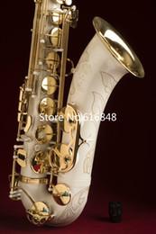 2019 laque blanche Nouvelle Arrivée Unique Laque Blanche SELMER 802 Saxophone Ténor Exquise Sculpture Perle Bouton Avec Cas Embouchure promotion laque blanche