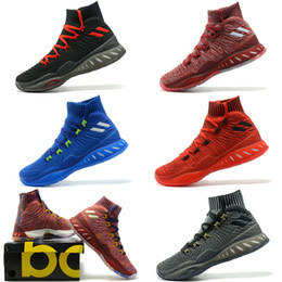Wholesale Popular Culture - 2018 New 3D men crazy explosive boost Basketball Shoes,fashion Sneakers Boost Beige,Men Sneaker Sportwear,MenS popular Sports Running Shoes