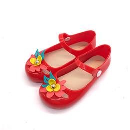 Geléia sandália sapatos flor on-line-2018 Sandálias Meninas Antigas Indoor Sandálias Antiderrapantes Design Colorido Menina Geléia de Cristal de Espessura de fundo Antiderrapante Meninas Praia Sapato # 18