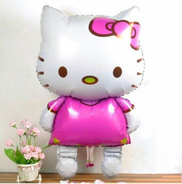 Canada 116 * 65 cm Grande Taille Bonjour Kitty Chat Feuille Ballons de Bande Dessinée de Anniversaire De Mariage Décoration De Partie Gonflable Ballons À Air Classiques Jouets Offre