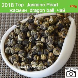 Wholesale Green Chinese Dragon - [mcgretea]2018 Promotion ! 250g superior Jasmine Flower Tea Premium Jasmine Dragon Pearl Tea Health Care Green Wholesale Chinese Tea