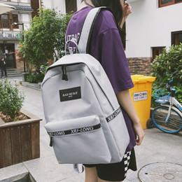 libretto bianco Sconti Zaino da viaggio Fashion Bookbag Satchel Zaino da donna Nero Bianco Solido in nylon da 15 pollici Zaini per laptop Escolar College