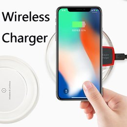 Wholesale Fastest Android Phone - Universal Qi Wireless Charger Portable Mini Fast Charging Colorful Circle Shape Wireless Chargers for iPhone X Android Mobile Phones