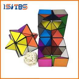Wholesale fantasy puzzle - Star Cube Transforming Geometric Puzzle Magic Cube Detachable Infinity Cube 2IN1 Infinity Cubes Fidget Cubes Novelty EDC Decompression Toys