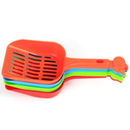 Productos de aseo personal online-Productos para mascotas Pala Pala para gatos Pala para la basura Cuchara plástica Gatos Aseo Limpieza de arena Cucharas de comida para perros Suministros de calidad superior