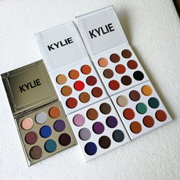Wholesale Christmas Eyeshadow Palette - The Hotest 9 Colors Set Kylie Cosmetics Burgundy&Bronze&Blue Honey &Purple&Christmas Eyeshadow Eyeshadow Eye Shadow Palette free shipping