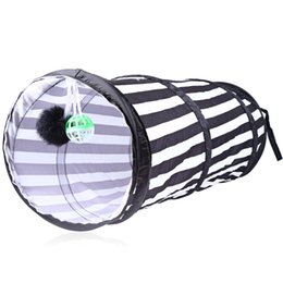 Wholesale Pet Tunnels Cats - Durable Tent Playing Tunnel for Cat Magic Box Pet Play Tents Toys Folding Design Polyester Material With Bell in the Ball