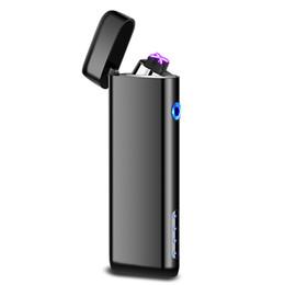 Date Double Double Briquet À L'arc Plasma Électronique USB Briquets Coupe-Vent Affichage de la batterie Rechargeable Briquet ? partir de fabricateur
