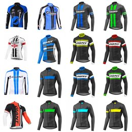 Wholesale Cycle Jersey Long Sleeve - 2018 new GIANT team Cycling long Sleeves jersey man Indispensable High Quality Breathable ropa ciclismo hombre D0912