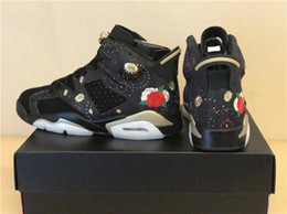 Wholesale Mens Chinese Shoes - 2018 Retro 6 CNY Chinese New Year Mens Basketball Shoes Sneakers Wholesale 6s Metallic Gold-Multi Noir Athletic Sport Sneakers AA2492-021