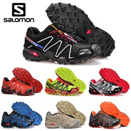 newest 51272 290ca chaussures de course Promotion Original Salomon Speedcross 3 CS Hommes  Chaussures De Course noir sable hommes