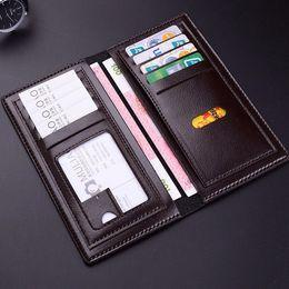 Wholesale Vintage Money Clips - 2018 new fashion mens brand designer coffee wallet leather long wallet luxury leather clip folder men top quality Money Purses 171225007-