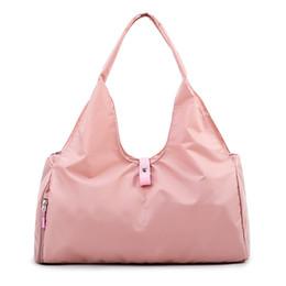 Women Yoga Handbag Sport Fitness Gym Bags Waterproof Nylon Shoulder Travel  Bag w Shoes Space Large Capacity Mummy Shopping Bag d4c1acc686