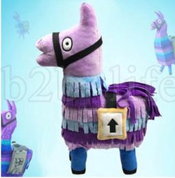 25cm Fortnite Stash Llama Plush Toy 10'' Soft Stuffed Doll cartoon Fortnite Stuffed Animals children gift KKA5534