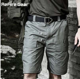 Argentina ReFire Gear Summer Rip-stop Shorts militares tácticos Hombres Pantalones cortos de camuflaje impermeables Cargo Pantalones cortos de algodón sueltos Casual Camo Army cheap army jersey camo Suministro