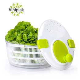 Wholesale salads machine - Vegetables Fruits Dehydrator Basket Salad Spinner Wash Clean Basket Storage Washer Drying Machine Cleaner Kitchen Gadget