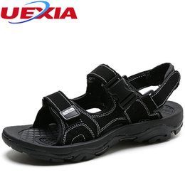 5d6e4f548210 Chinese Summer Sandals Mens Leather Flats Beach Men Shoes Sewing Handmade  Water Designer Luxury Walking Breathable
