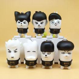 Wholesale Hot Toys Action - Hot sale 7pcs Lot 7cm BTS BT21 Bangtan Boys PVC Action Figures For Child Best Gifts