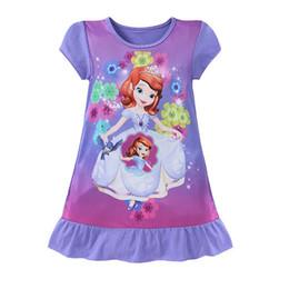 Jahre altes kleid lässig online-Schöne Kinder Mädchen Kleider Kinder Cartoon Meerjungfrau Kurzarm Kleider Prinzessin Casual Dress Alter 3- 10 Jahre alt