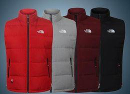 Koreanische männer winterweste online-Winter warme Daunenweste Herren koreanische Version Gezeiten stattliche große Größe Weste Schulter dicke Jacke Mantel