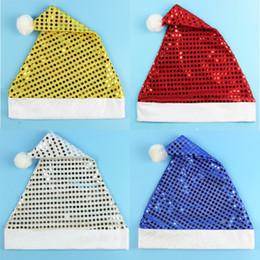Children fitted hats en Ligne-Paillettes De Noël Chapeau Enfants Père Noël Chapeau De Mode Originalité Festival Fête Décoration Fit Enfants Cadeau Vente Chaude 1 8zm ff
