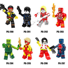 Wholesale Domino Wholesale - Super Heroes Minifig Mix Lot Forge Domino Radioactive Man Ripclaw Figure PG8082 Mini Building Blocks Figures