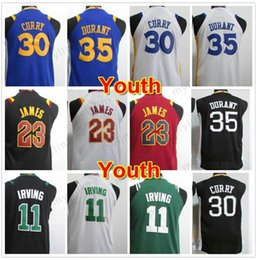 Wholesale North Shorts - Mens Top Quality North Carolina Uniforms White Blue College Jersey Youth Basketball Jerseys White Green Black Kyrie Irving youth Kevin Dur
