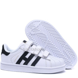 baby girl shoes new Promo Codes - New kids superstar boy girl children parent-child casual shoes For baby fashion sneaker black white multi running outdoor trainer shoe 22-35