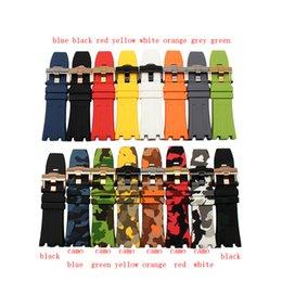 Wholesale white watch band replacement - CARLYWET 28mm Wholesale Hot Sell Black White Red Yellow Waterproof Silicone Rubber Replacement Wrist Watch Band Strap Belt