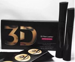 Wholesale Double Mascara - 2018 New arrival 1030 version 3D Fiber Lashes eyelashes Waterproof Double Mascara 3D FIBER LASHES Set Makeup Eyelash 1set =2pcs Make up guan