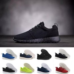 Wholesale Flat Boots Shoes - Hot sale Classical Run Running Shoes men women black low boots Lightweight Breathable London Olympic Sports Sneakers Trainers size 36-45