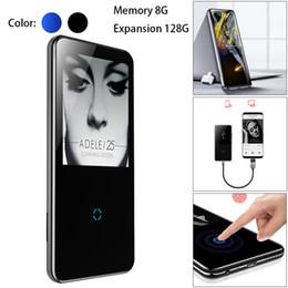 Киноэкраны онлайн-MP3-плеер 8 ГБ / 16 ГБ Walkman Lossless Recorder FM-радио Видео Фильм Тонкий MP4-плеер с памятью, 2,4-дюймовый сенсорный экран OTG