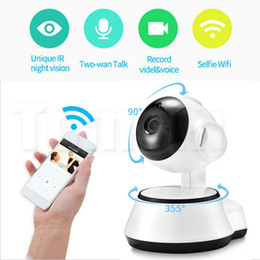 Wholesale Indoor Cctv Cameras - Hottest Pan Tilt Wireless IP Camera WIFI 720P Infrared CCTV Home Security Cam Micro SD Slot Support Microphone & P2P with DHL Shipping