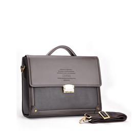 Wholesale cross dressing males - Wholesale- Hot 2016 Men Business Messenger Bags Official Briefcase Male Men PU Leather Handbags Tote Shoulder Bag Crossbody Bags an270