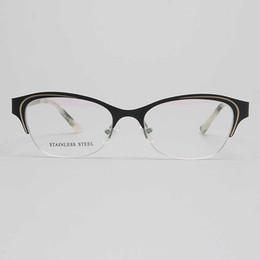 Bule acciaio online-Miopia YOUTOP Donna Anti-Bule Ray Frame Moda femminile Occhiali rotondi Occhiali da vista in acciaio inox montatura occhiali S6831