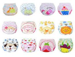 calças de treino de fraldas de pano Desconto Fraldas de Bebê bonito Fraldas Reutilizáveis Fralda de Pano Lavável Crianças Calças de Treinamento de Algodão Do Bebê Calcinhas Fralda Mudança
