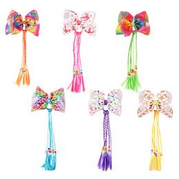 peruca de cabelo Desconto Tamanho grande unicórnio brilho brilhante bow tie fahion peruca hairpin para meninas crianças crianças cabelo torção perucas
