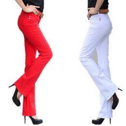 Wholesale candy color jeans - Fashion Autumn New Candy Color Women Jeans Long Stretch Slim Fit Jeans Straight Lager Size Sexy Fashion Casual Lady Trousers