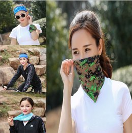 Wholesale Red Riding Hood - Magic Riding Hood towel Bicycle Motorcycle sun hood Summer multifunctional UV protection Sand prevention collar Cold silk dry scarf LJJG1