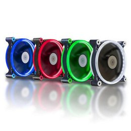 Компьютер 120-мм светодиодный вентилятор Водяной кулер 120-мм вентилятор Холодный блики Красный Синий Зеленый Белый вентилятор Кулер от